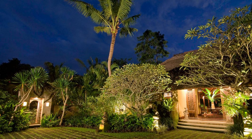 Villa Alamanda - Ubud Villas Bali outside night