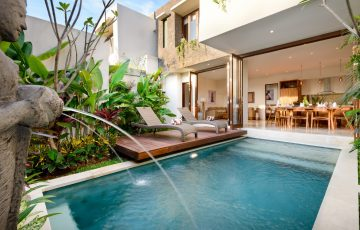 Villa Maria, Legian, Bali - Pool, dining and living rooms