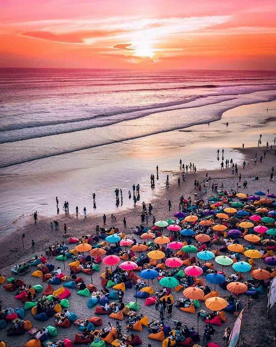 legian beach at sunset