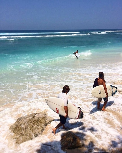 surfing in bali - greenbowl