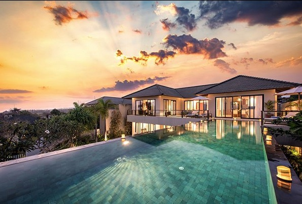 wedding villas in bali - villa bale agung