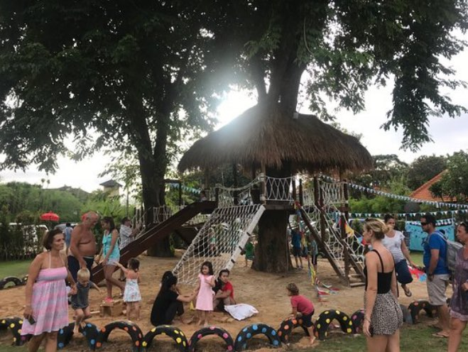 cafes with childrens playground - abc kids club in sanur