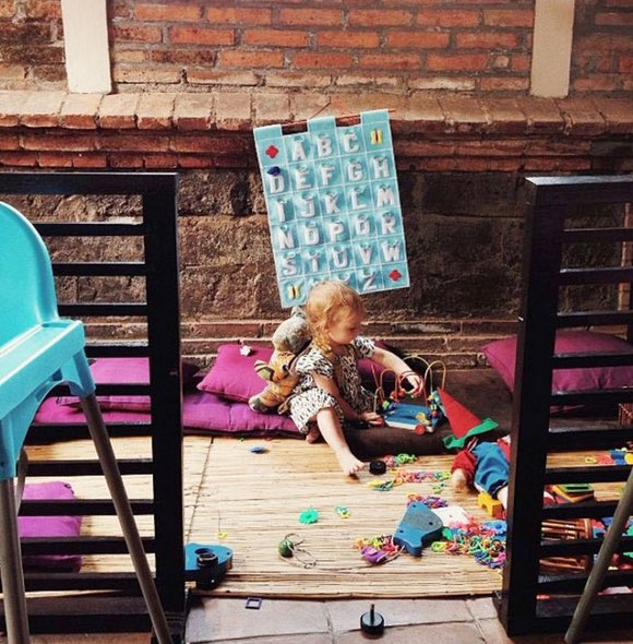 cafes with playgrounds for kids in bali - bali buda