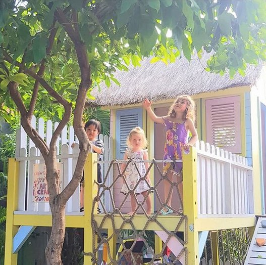 cafes with playgrounds in bali - milk and madu