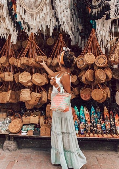 Ubud art market but souvenirs bali