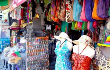 shopping for souvenirs in Sanur, bali